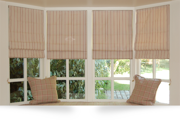 Roman Blinds by Blind Inspiration Somerset :: Blinds, Awnings and Wooden Shutters in Wellington, Taunton, Bridgwater, Yeovil and Dorchester, Somerset